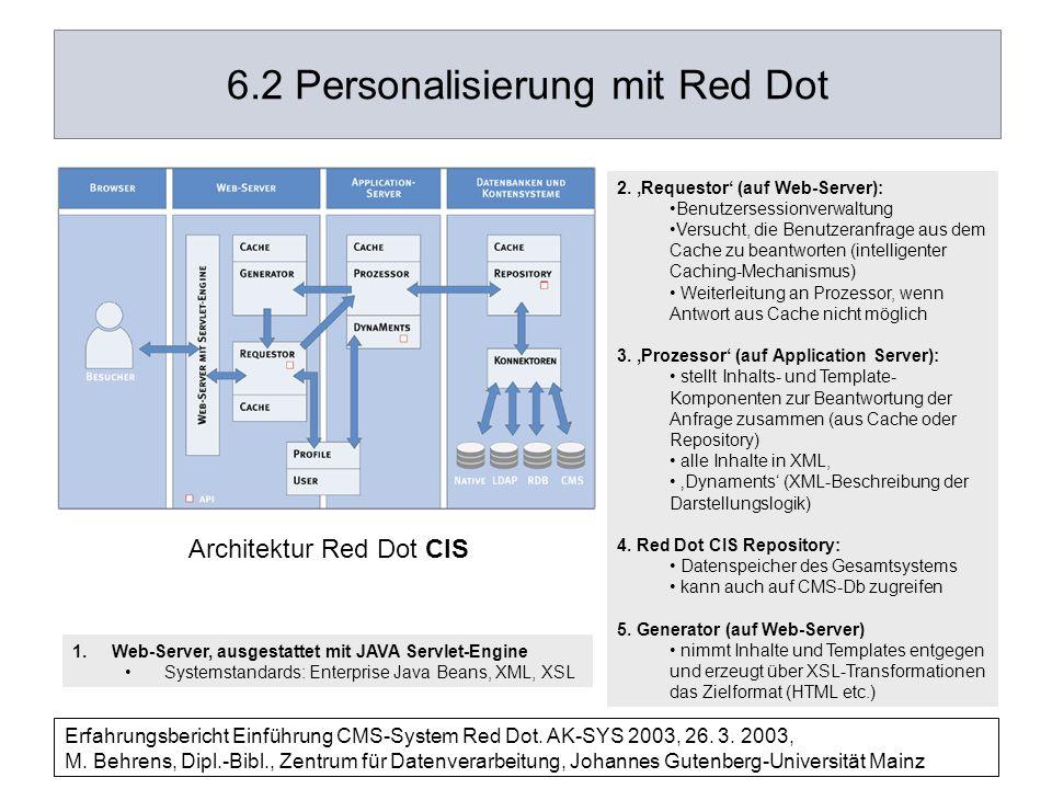 6.2 Personalisierung mit Red Dot