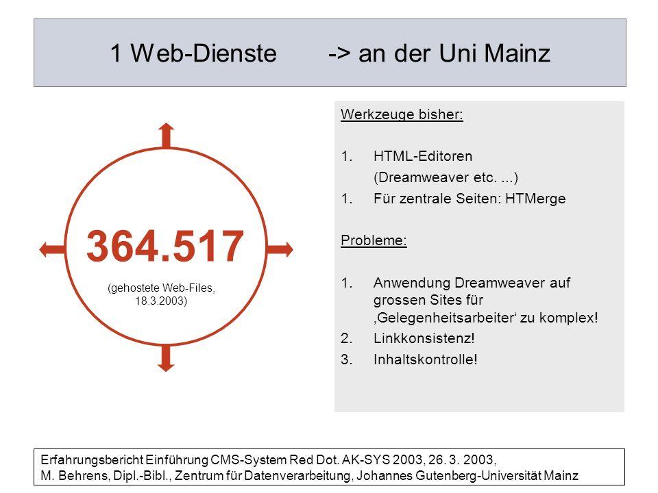 1 Web-Dienste -> an der Uni Mainz