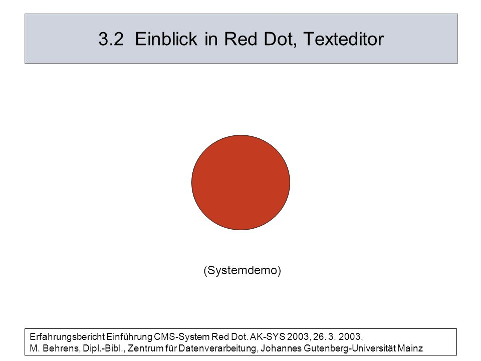 3.2 Einblick in Red Dot, Texteditor