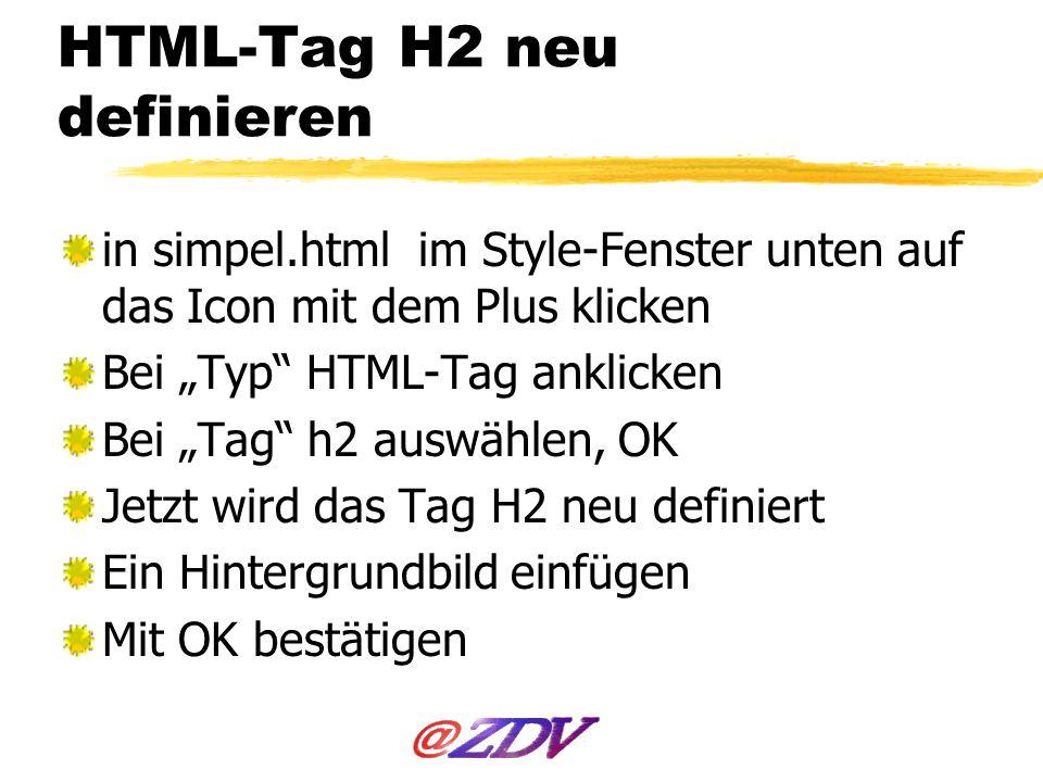 HTML-Tag H2 neu definieren