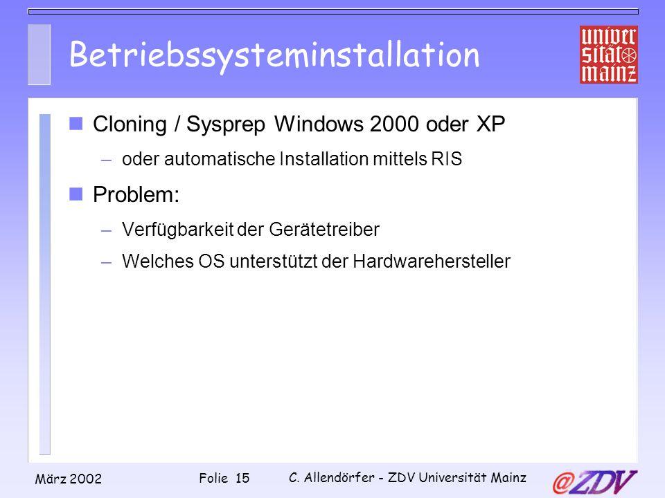 Betriebssysteminstallation