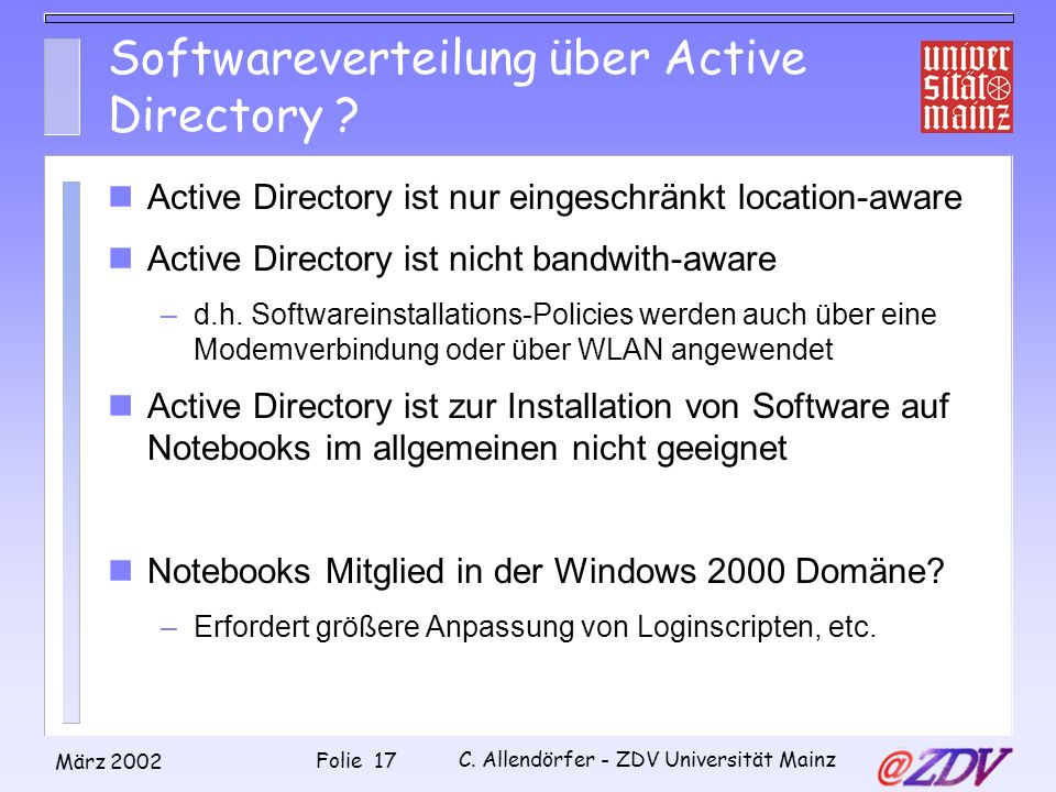 Softwareverteilung über Active Directory