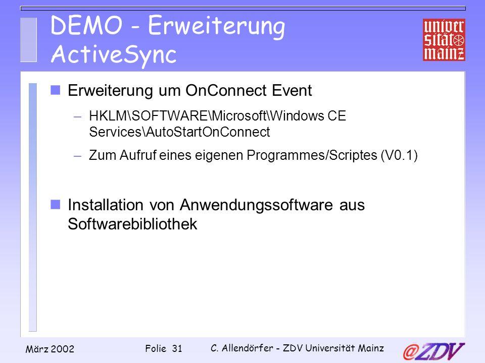 DEMO - Erweiterung ActiveSync
