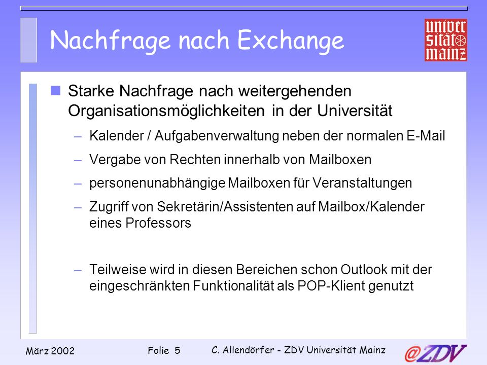 Nachfrage nach Exchange