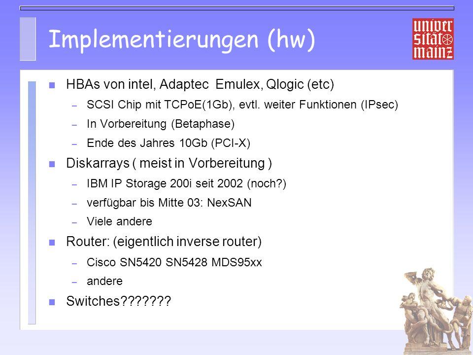 Implementierungen (hw)