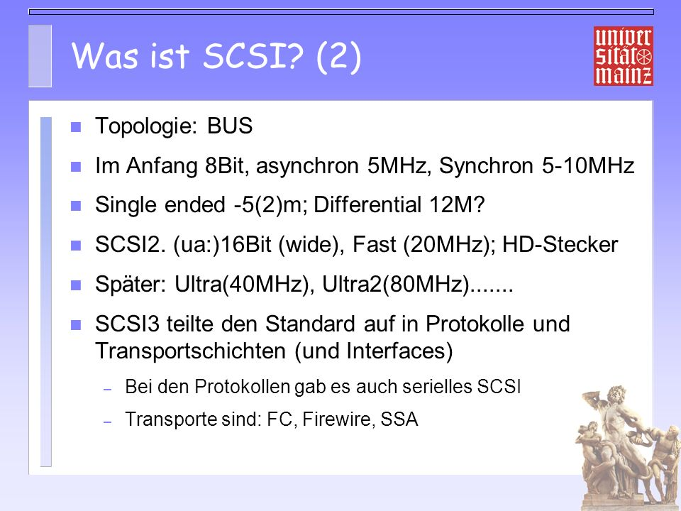 Was ist SCSI (2) Topologie: BUS