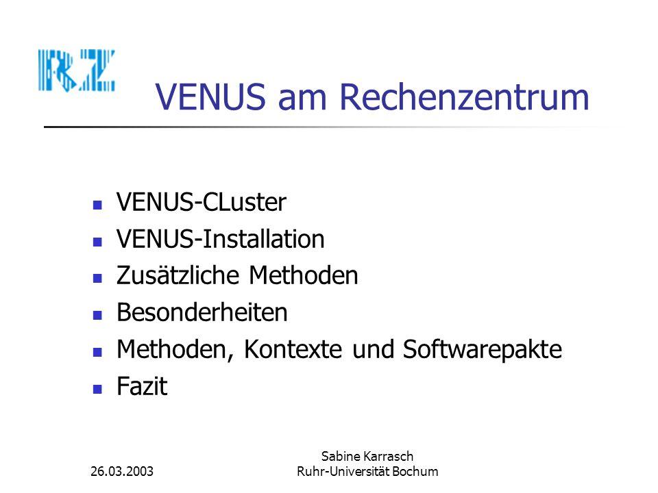 VENUS am Rechenzentrum
