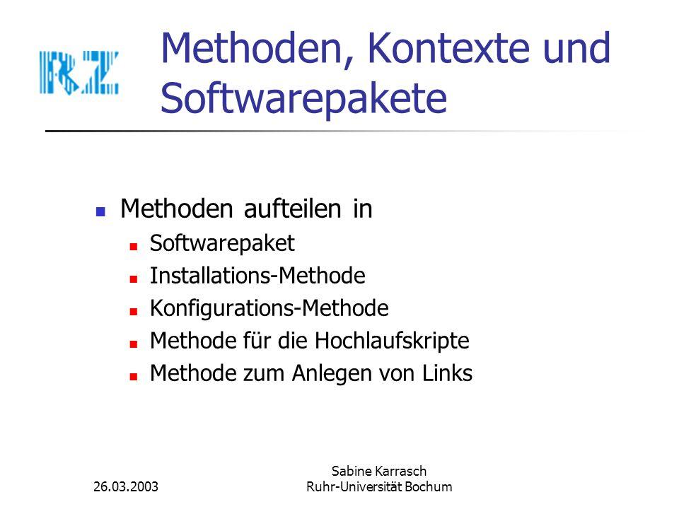 Methoden, Kontexte und Softwarepakete