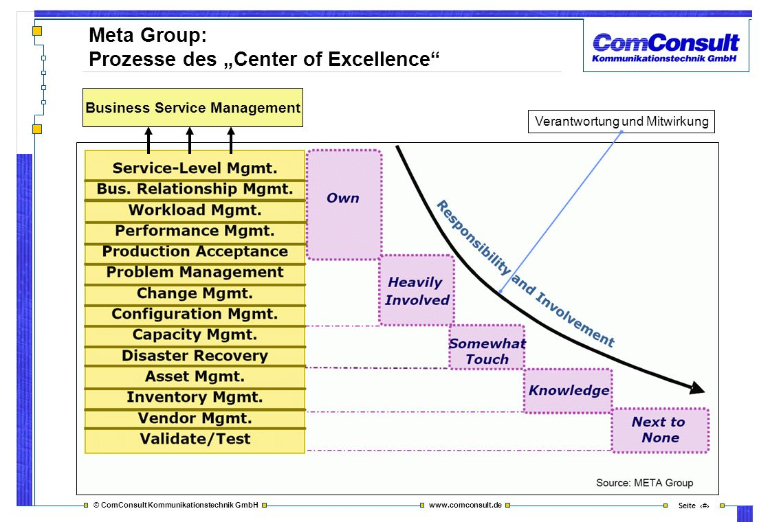 """Meta Group: Prozesse des """"Center of Excellence"""