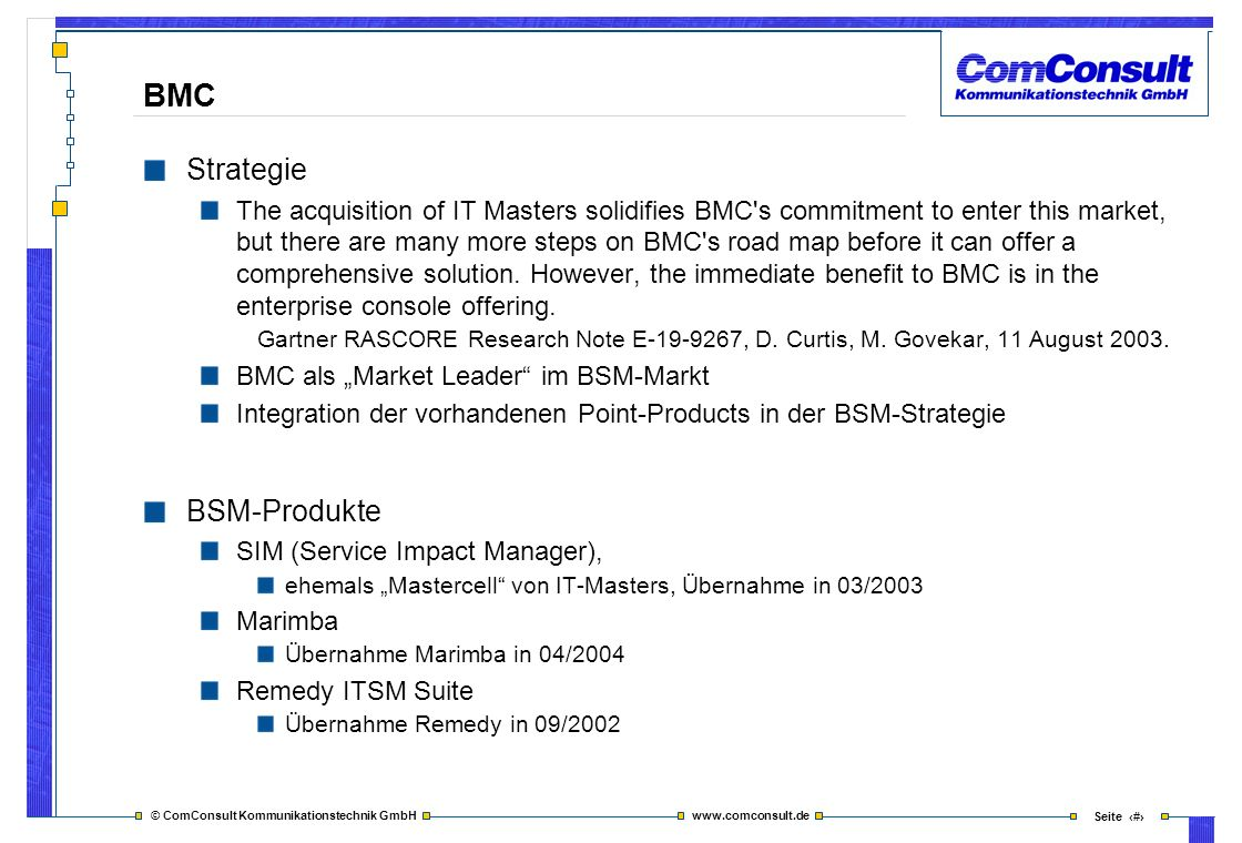 BMC Strategie BSM-Produkte