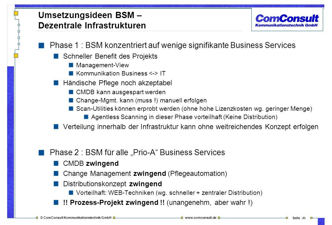 Umsetzungsideen BSM – Dezentrale Infrastrukturen