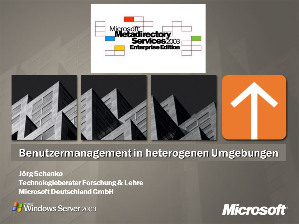 Benutzermanagement in heterogenen Umgebungen