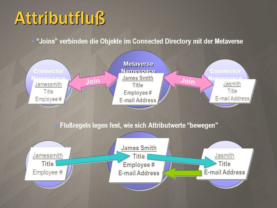 Joins verbinden die Objekte im Connected Directory mit der Metaverse