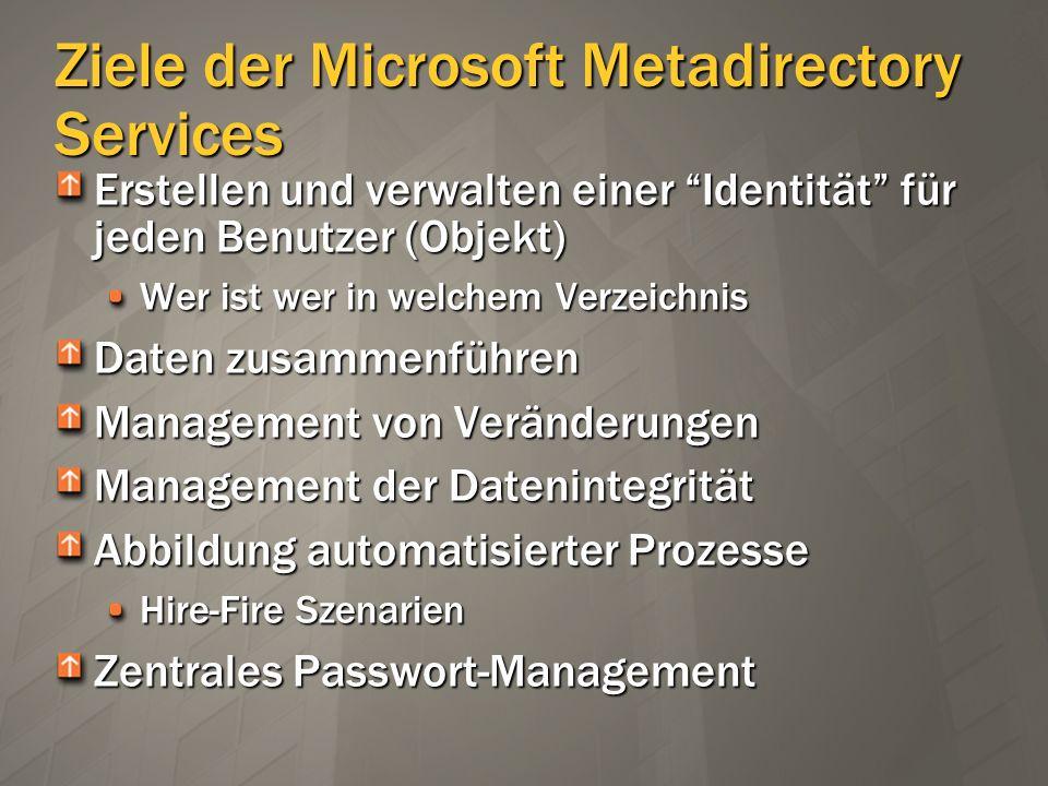 Ziele der Microsoft Metadirectory Services