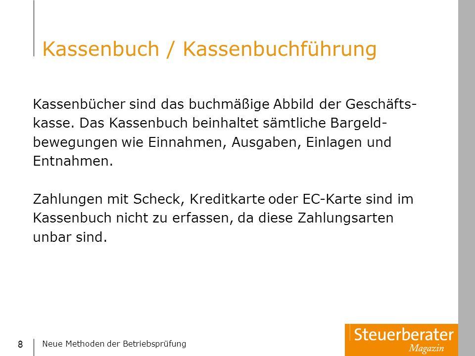 Kassenbuch / Kassenbuchführung