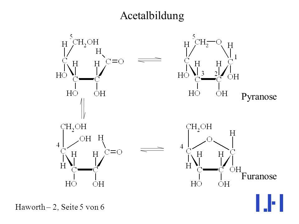 Acetalbildung Pyranose Furanose Haworth – 2, Seite 5 von 6