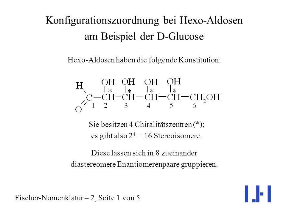 Konfigurationszuordnung bei Hexo-Aldosen am Beispiel der D-Glucose