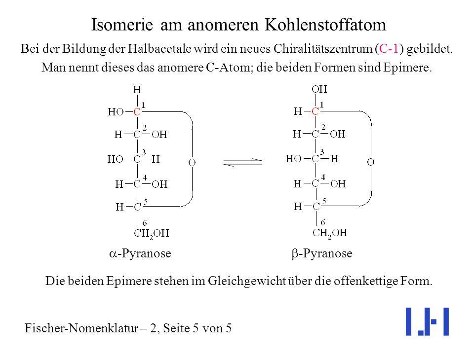 Isomerie am anomeren Kohlenstoffatom