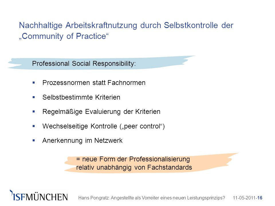 Professional Social Responsibility:
