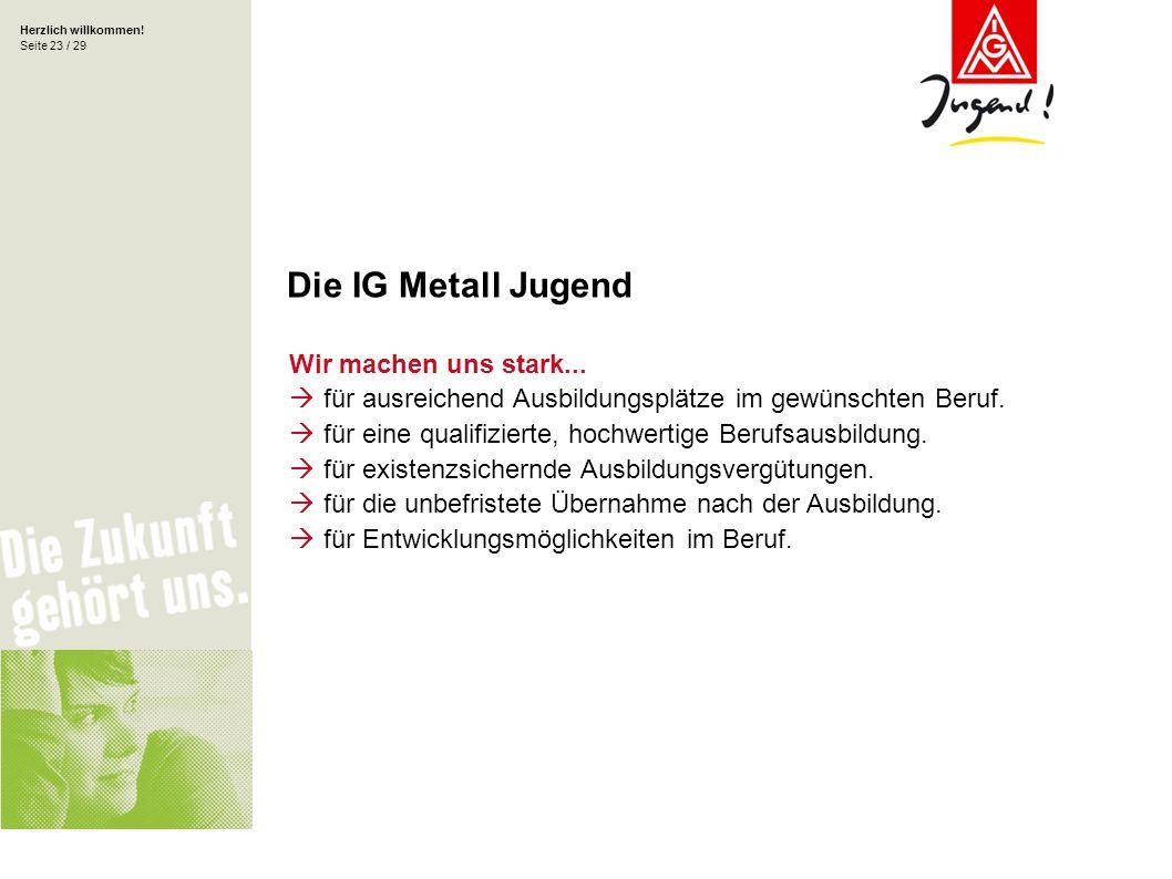 Die IG Metall Jugend Wir machen uns stark...