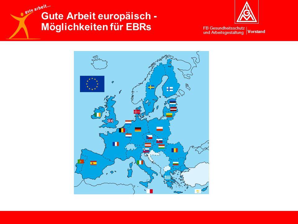 Gute Arbeit europäisch - Möglichkeiten für EBRs