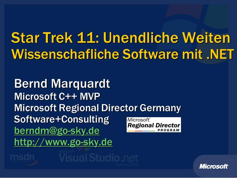 Star Trek 11: Unendliche Weiten Wissenschafliche Software mit .NET