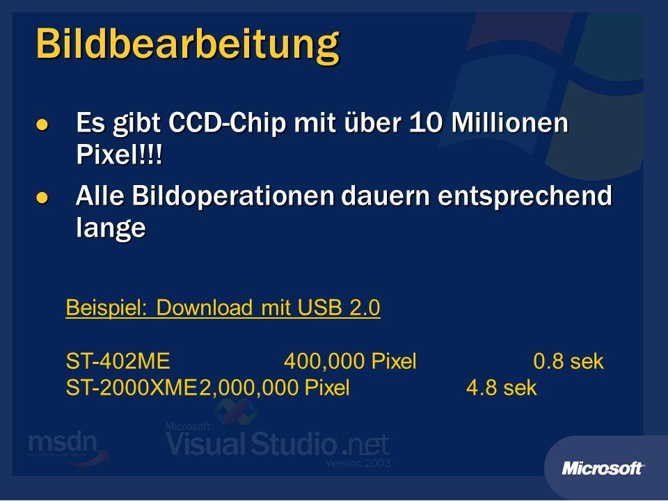Bildbearbeitung Es gibt CCD-Chip mit über 10 Millionen Pixel!!!