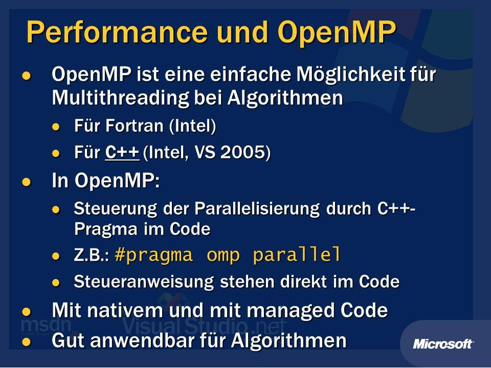 Performance und OpenMP