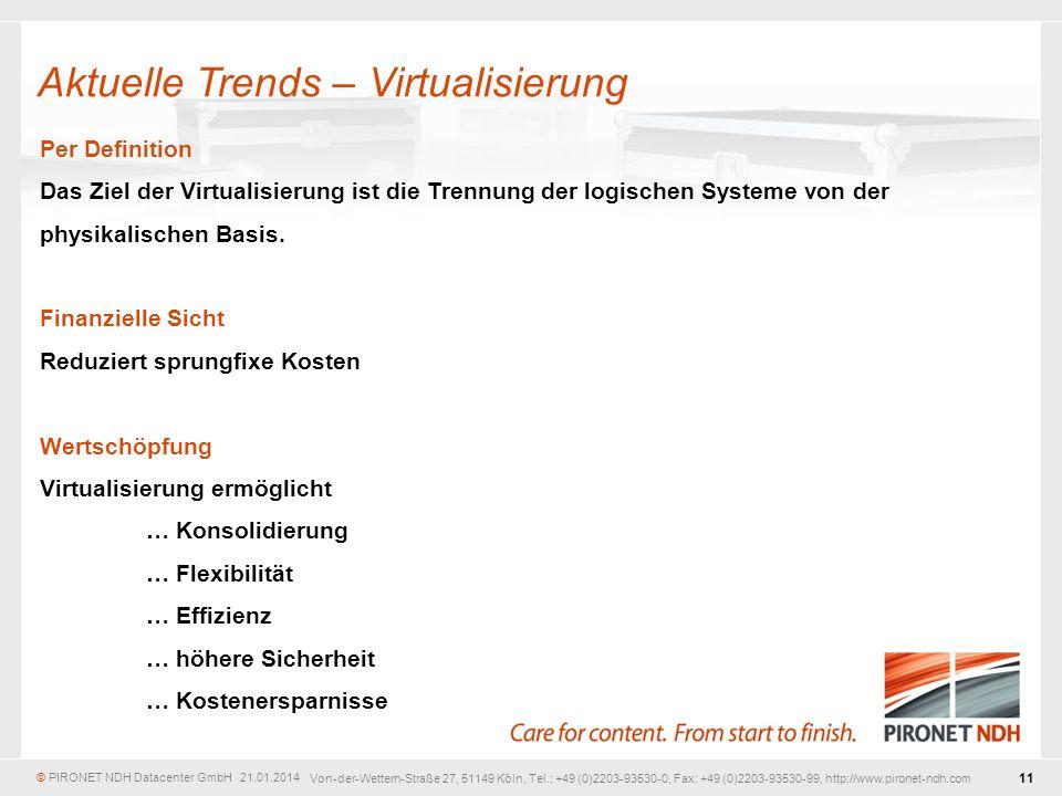 Aktuelle Trends – Virtualisierung