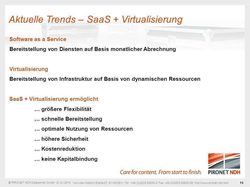 Aktuelle Trends – SaaS + Virtualisierung