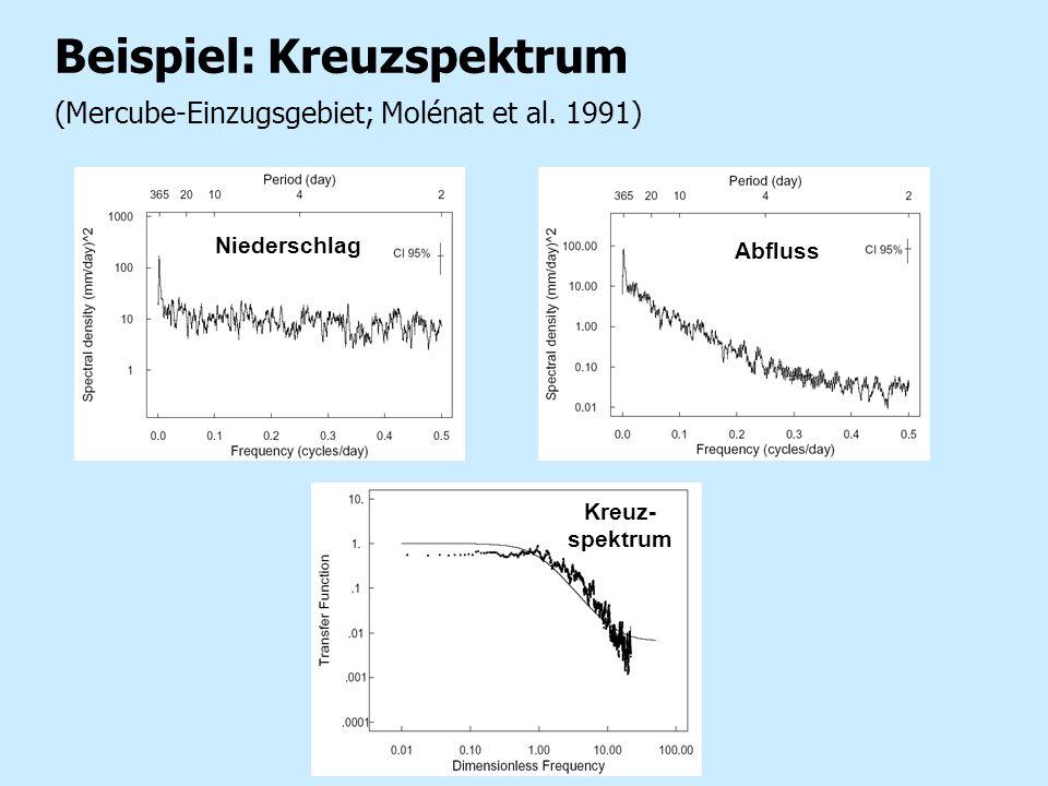 Beispiel: Kreuzspektrum (Mercube-Einzugsgebiet; Molénat et al. 1991)