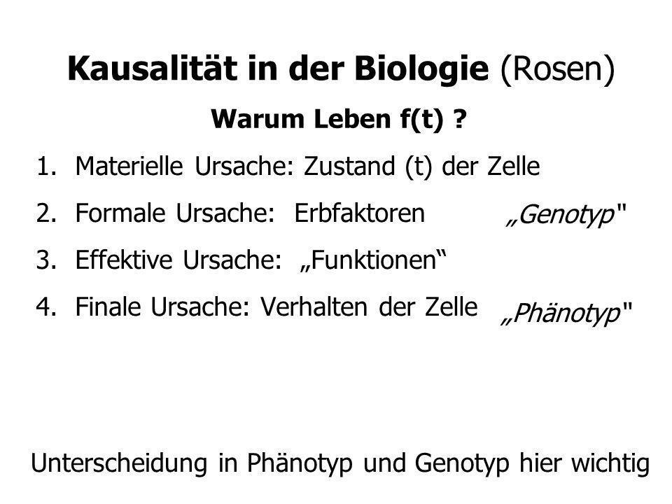 Kausalität in der Biologie (Rosen)