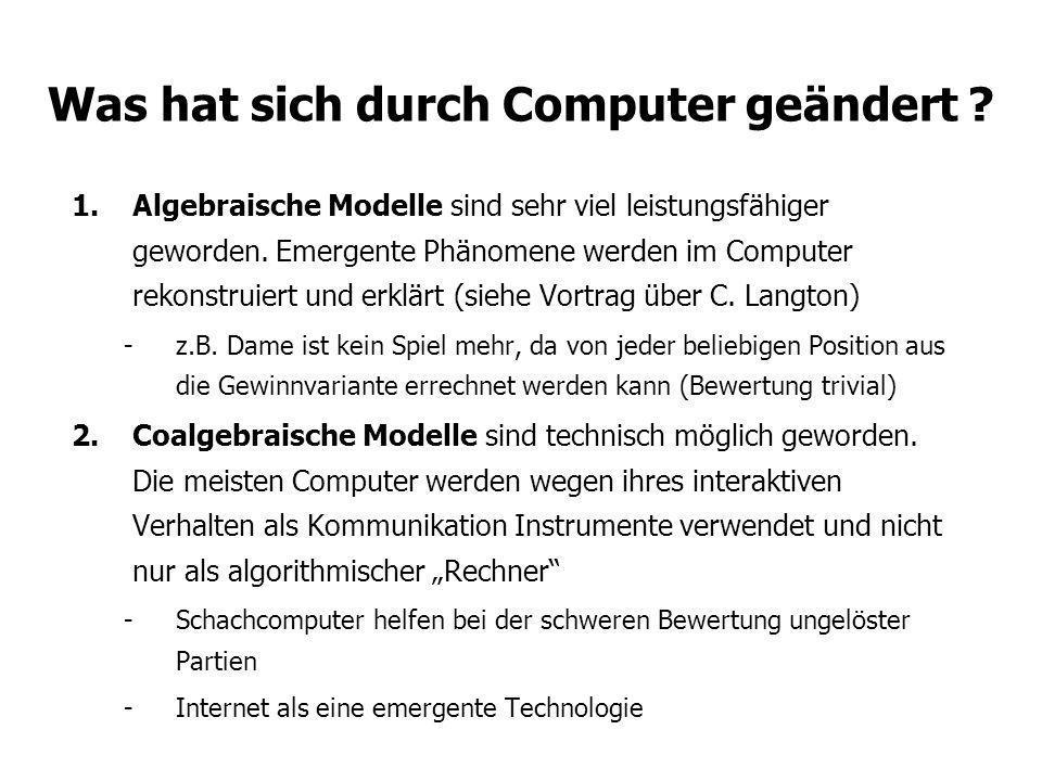 Was hat sich durch Computer geändert