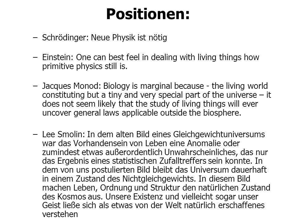 Positionen: Schrödinger: Neue Physik ist nötig