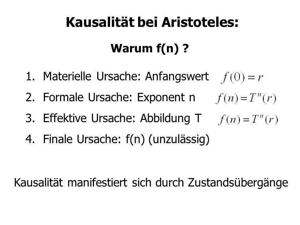 Kausalität bei Aristoteles: