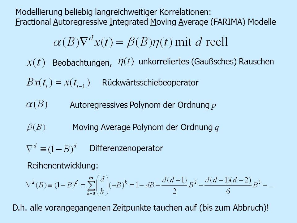 Modellierung beliebig langreichweitiger Korrelationen: