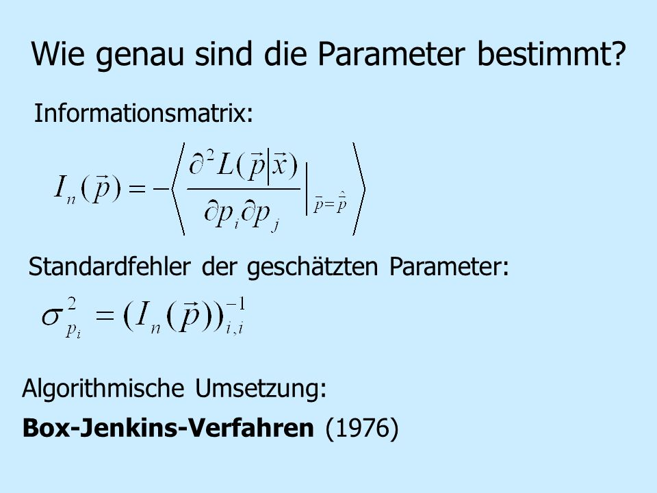 Wie genau sind die Parameter bestimmt