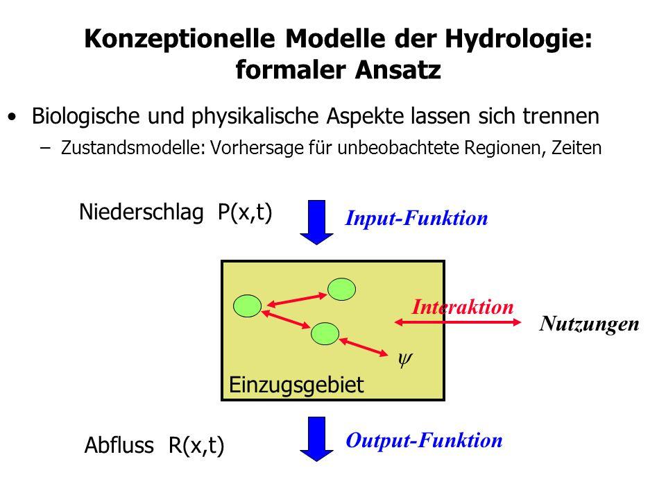 Konzeptionelle Modelle der Hydrologie: formaler Ansatz