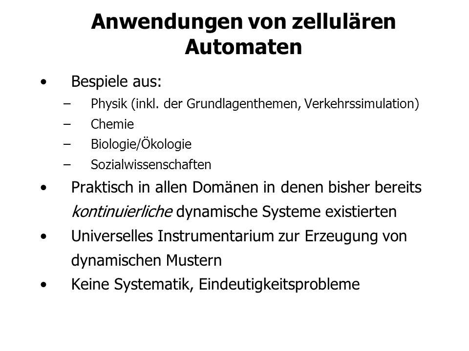 Anwendungen von zellulären Automaten
