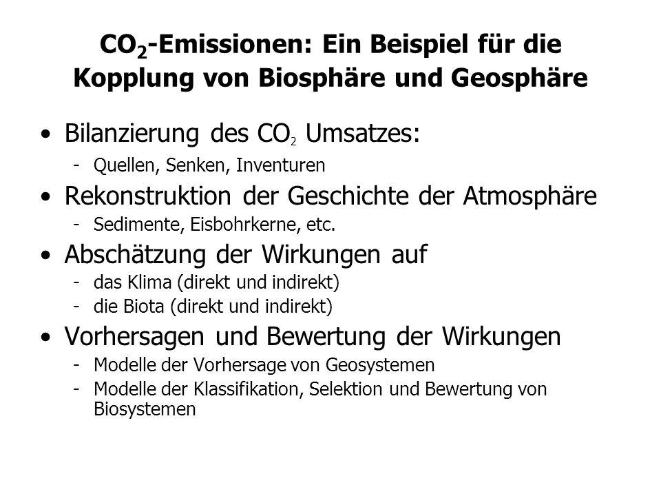Bilanzierung des CO2 Umsatzes: