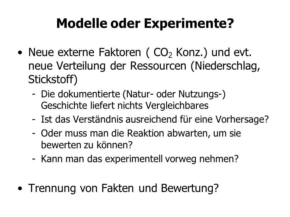 Modelle oder Experimente