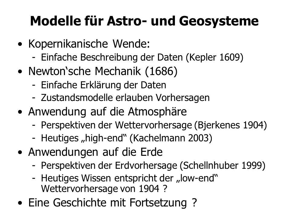 Modelle für Astro- und Geosysteme