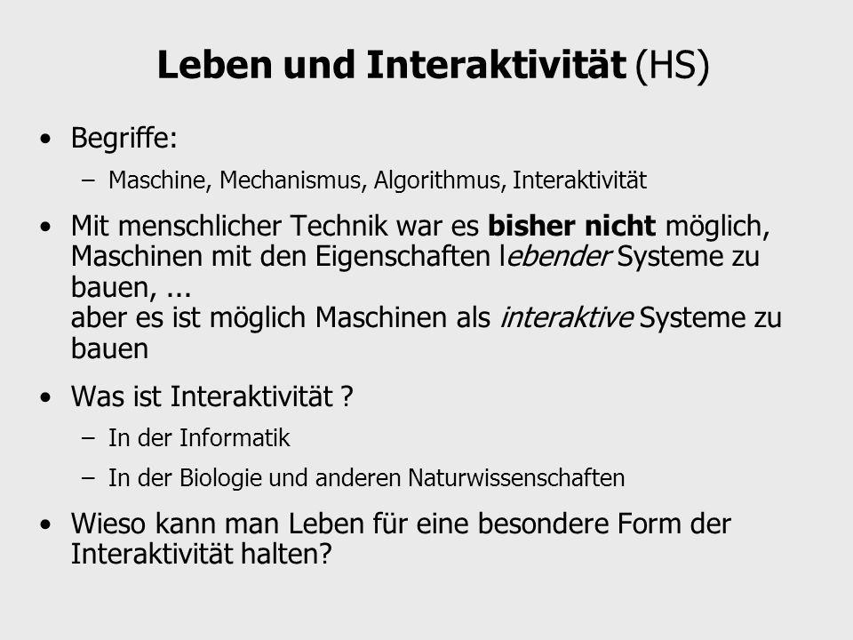 Leben und Interaktivität (HS)