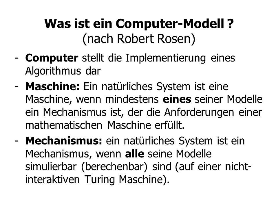 Was ist ein Computer-Modell (nach Robert Rosen)