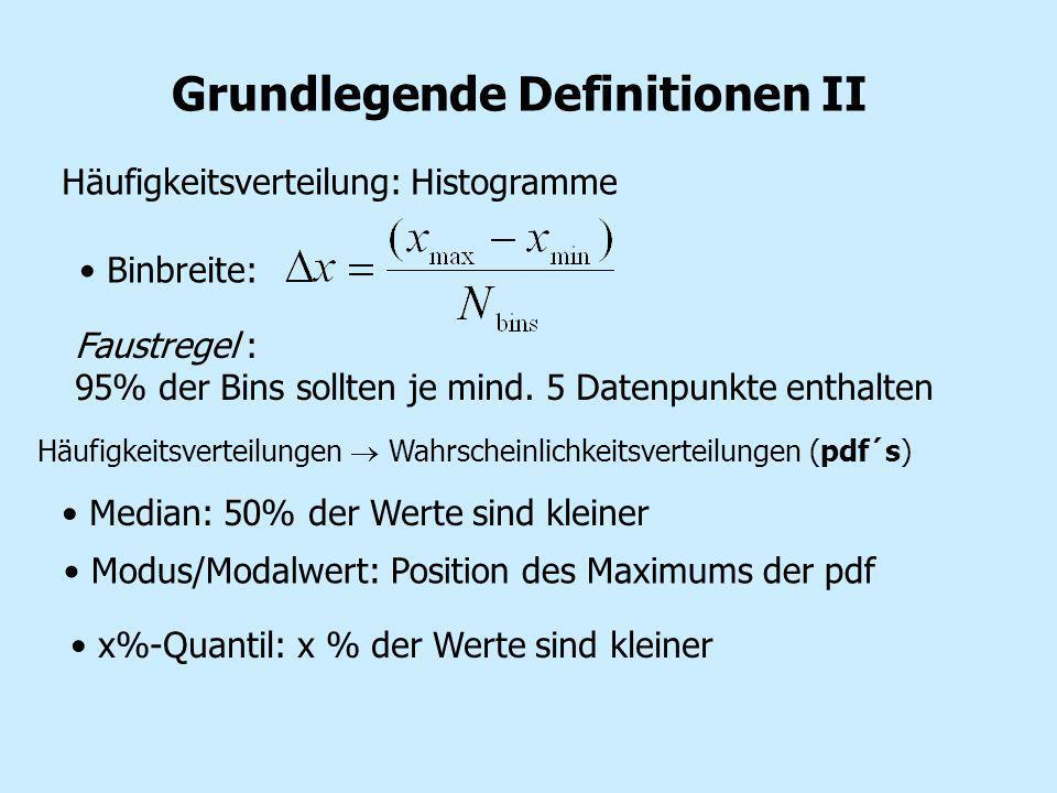Grundlegende Definitionen II