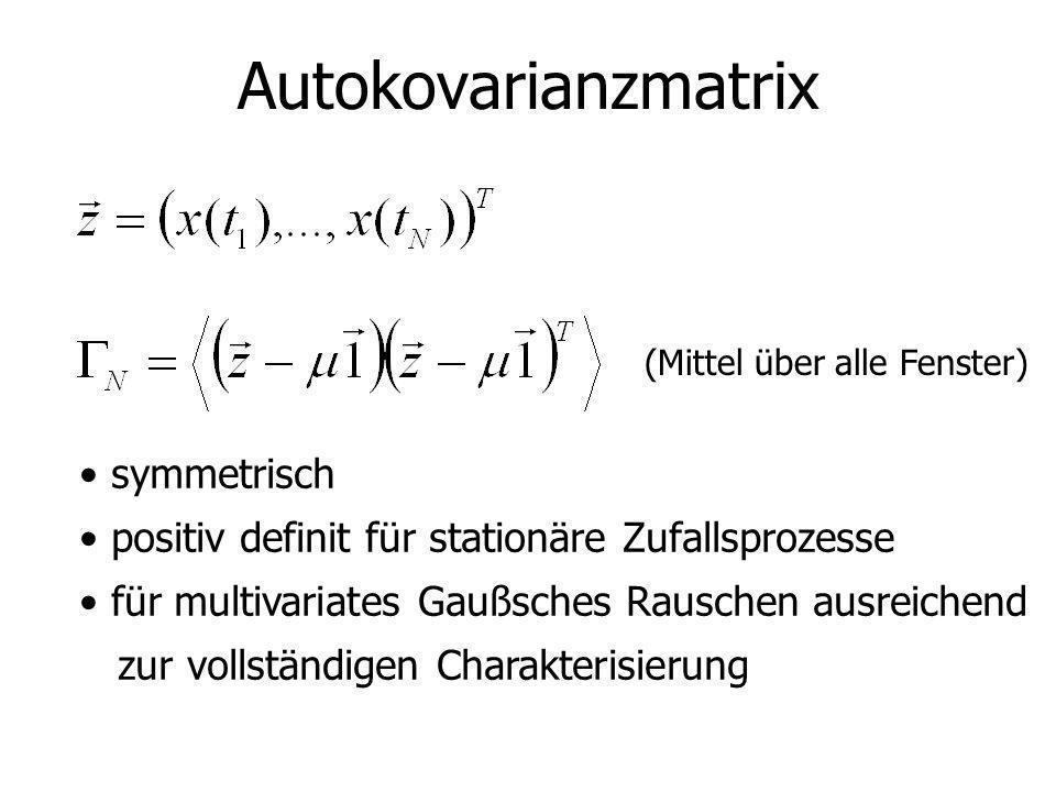 Autokovarianzmatrix symmetrisch