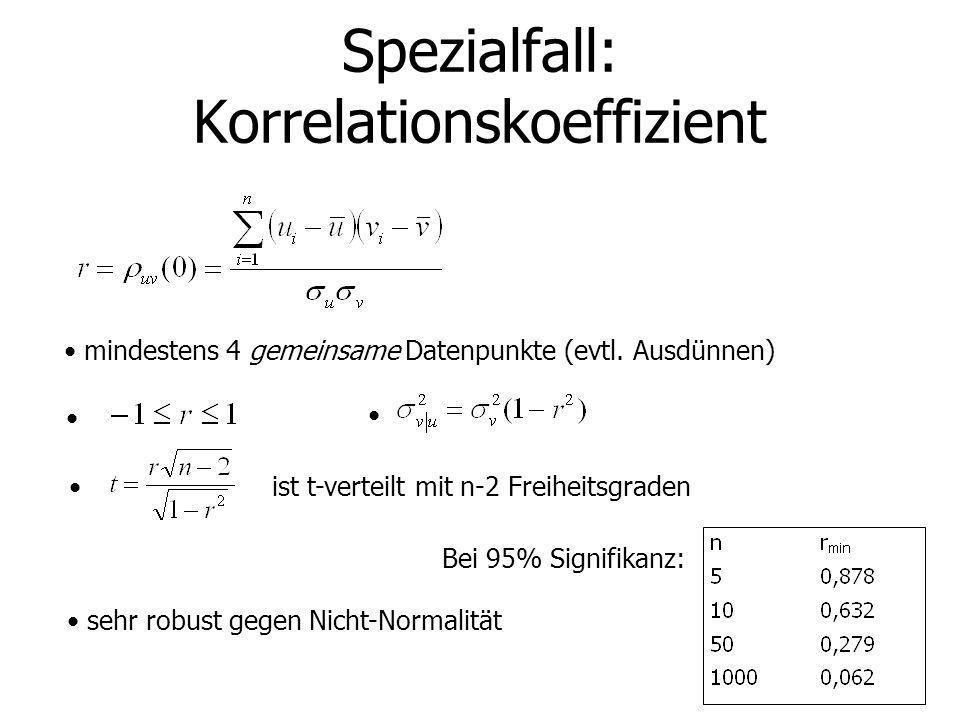 Spezialfall: Korrelationskoeffizient