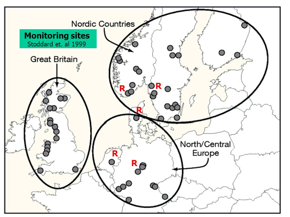 Monitoring sites Stoddard et. al 1999