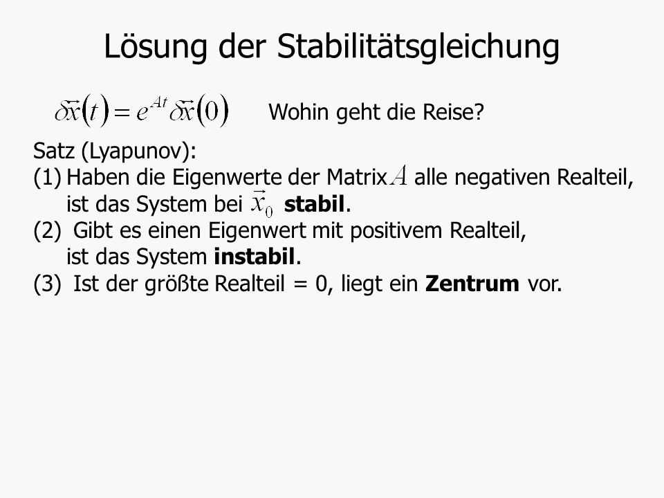 Lösung der Stabilitätsgleichung