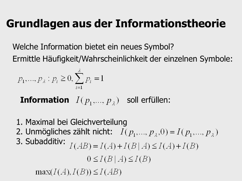 Grundlagen aus der Informationstheorie